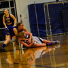 KRISTOPHER RADDER - BRATTLEBORO REFORMER<br /> Bellows Falls' Taylor Goodell steals the ball away from Lamoille's Brooke Naylor during the Girls Varsity's first round of playoffs at Bellows Falls Union High School on Wednesday, Feb. 28, 2018.