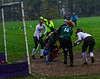 Bellows Falls' Leia Robinson scores a goal during a field hockey playoff game at Bellows Falls Union High School on Thursday, Oct. 27, 2016. Kristopher Radder / Reformer Staff