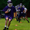 KRISTOPHER RADDER — BRATTLEBORO REFORMER<br /> McGreg Orvancor runs with a ball during practice on Tuesday, Aug. 13, 2019.