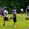 KRISTOPHER RADDER — BRATTLEBORO REFORMER<br /> Bellows Falls' football team runs through different drills during practice on Tuesday, Aug. 13, 2019.