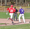 Bellows Falls played against Rutland during a baseball game on Thursday, April 21, 2016, at Bellows Falls Union High School. Kristopher Radder / Reformer Staff