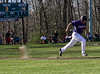 Bellows Falls' Jake Lober runs to first during a baseball game against Rutland on Thursday, April 21, 2016, at Bellows Falls Union High School. Kristopher Radder / Reformer Staff