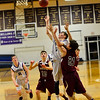 KRISTOPHER RADDER - BRATTLEBORO REFORMER<br /> Bellows Falls' Ryan Kelly tries to take the ball to the rim during a boys' varsity basketball game at Bellows Falls Union High School on Monday, Jan. 16, 2017.
