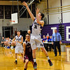KRISTOPHER RADDER - BRATTLEBORO REFORMER<br /> Bellows Falls' Anthony Mueller takes a a jump shot during a boys' varsity basketball game at Bellows Falls Union High School on Monday, Jan. 16, 2017.