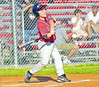 Michael Edwards 10, son of Dr. Carlton Edwards and Lana Edwards swings and connects with the pitch during a game at the new Boundry Waters Park located just behind the Aquatic Center. <br /> PHOTO BY JOE LIVINGSTON