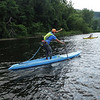KRISTOPHER RADDER - BRATTLEBORO REFORMER<br /> People compete in the first Brattle Paddle event held in Brattleboro, Vt., on Sunday, July 23, 2017.