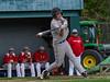 Brattleboro's Adler Billings hits the ball foul during Thursday's baseball game at Brattleboro Union High School. Kristopher Radder / Reformer Staff