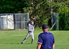 Brattleboro's Tanner Bell catches a pop-fly for a third out in the first inning against Rutland during Thursday's baseball game at Brattleboro Union High School. Kristopher Radder / Reformer Staff