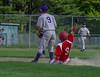Rutland's Reece De Castro slides into second before Brattleboro's Stephen Kerylow could get the ball during Thursday's baseball game at Brattleboro Union High School. Kristopher Radder / Reformer Staff