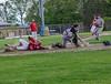 Rutland's Jacob Godfrey slides into home as the ball gets away from Brattleboro's Dan Petrie during Thursday's baseball game at Brattleboro Union High School. Kristopher Radder / Reformer Staff