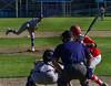 Brattleboro's Leif Bigelow pitches to Rutland's Jacob Godfrey during Thursday's baseball game at Brattleboro Union High School. Kristopher Radder / Reformer Staff