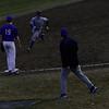 KRISTOPHER RADDER - BRATTLEBORO REFORMER<br /> Brattleboro's Jeremy Rounds runs towards third base during a baseball game at Brattleboro Union High School on Monday, April 6, 2018.