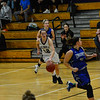 KRISTOPHER RADDER - BRATTLEBORO REFORMER<br /> Brattleboro girls' take on Drury during a basketball game at Brattleboro Union High School on Wednesday, Jan. 24, 2018.