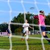 KRISTOPHER RADDER - BRATTLEBORO REFORMER<br /> Brattleboro girls lose 9-1 to Mt. Mansfield during a soccer match at Brattleboro Union High School on Monday, Sept. 11, 2017.