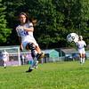 KRISTOPHER RADDER - BRATTLEBORO REFORMER<br /> Brattleboro Axis Balsley takes an attempt on goal during a soccer match at Brattleboro Union High School on Monday, Sept. 11, 2017.