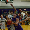 KRISTOPHER RADDER — BRATTLEBORO REFORMER<br /> Brattleboro boys' host Woodstock during a basketball game at Brattleboro Union High School on Wednesday, Dec. 18, 2019.