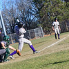 KRISTOPHER RADDER - BRATTLEBORO REFORMER<br /> Brattleboro hosts Springfield during a baseball game at Brattleboro Union High School on Monday, April 23, 2018.