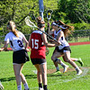 KRISTOPHER RADDER - BRATTLEBORO REFORMER<br /> Brattleboro girls lose 13-11 to Champlain Valley Union High School during a lacrosse game at Brattleboro Union High School on Monday, May 21, 2018.
