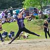 KRISTOPHER RADDER - BRATTLEBORO REFORMER<br /> Brattleboro's softball team beat Spaulding 9-0 during a Division 1 Playdown game at Brattleboro Union High School on Thursday, May 31, 2018.