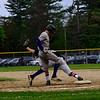 KRISTOPHER RADDER - BRATTLEBORO REFORMER<br /> Brattleboro's baseball team gets their first lost of the season against Keene High School in Keene, N.H., on Wednesday, May 16, 2018.