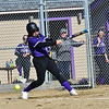 KRISTOPHER RADDER — BRATTLEBORO REFORMER<br /> Brattleboro take a 7 run lead over Fair Haven in the first inning during a softball game at Brattleboro Union High School on Tuesday, April 16, 2019.