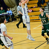 KRISTOPHER RADDER — BRATTLEBORO REFORMER<br /> Brattleboro's Gabe Packard takes a jump shot during a boys varsity game at Brattleboro Union High School on Tuesday, Dec. 18, 2018.