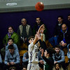 KRISTOPHER RADDER — BRATTLEBORO REFORMER<br /> Brattleboro takes on St. Johnsbury Academy during a boys varsity game at Brattleboro Union High School on Tuesday, Dec. 18, 2018.