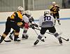 KRISTOPHER RADDER - BRATTLEBORO REFORMER<br /> Brattleboro's Hannah Curtiss prepares to take a shot on goal during a hockey game against Burr & Burton on Saturday, Dec. 10, 2016.