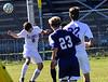 Brattleboro varsity soccer team beat Hartford 3-2 during Saturday's homecoming game at Brattleboro Union High School. Kristopher Radder / Reformer Staff