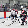 KRISTOPHER RADDER - BRATTLEBORO REFORMER<br /> Brattleboro faced off against Hartford during a hockey game a Living Memorial Park on Friday, Dec. 24, 2016.
