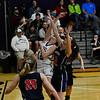 KRISTOPHER RADDER - BRATTLEBORO REFORMER<br /> Brattleboro's  Hailey Derosia takes attempt during a basketball game against Mt. Anthony Union on Thursday, Feb. 23, 2017. Brattleboro would win 47-42.