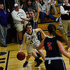 KRISTOPHER RADDER - BRATTLEBORO REFORMER<br /> Brattleboro's Victoria Pembroke dribbles under the hoop looking for an open shot during a basketball game against Mt. Anthony Union on Thursday, Feb. 23, 2017. Brattleboro would win 47-42.