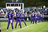 Bellows Falls preps for a kick off during the season opener at BFUHS on August 30.