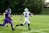 Quarterback Tyler Millerick runs the ball down the field for Brattleboro during the season opener at BFUHS August 30, 2019.