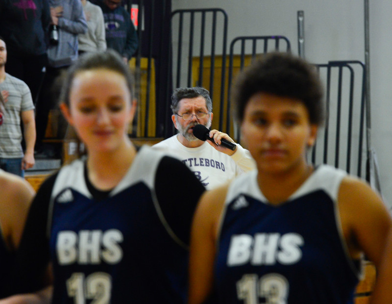 KRISTOPHER RADDER - BRATTLEBORO REFORMER<br /> Brattleboro played against Burlington during a girls' varsity basketball game at Brattleboro Union High School on Saturday, Jan. 7, 2017.