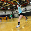 KRISTOPHER RADDER - BRATTLEBORO REFORMER<br /> Brattleboro's Alexa Kinley winding up to pitch during training at the Brattleboro Union High School's gym on Friday, March 23, 2018.