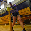 KRISTOPHER RADDER - BRATTLEBORO REFORMER<br /> Brattleboro's Kayla Leonard-Houle practices her swing during training on Friday, March 23, 2018.