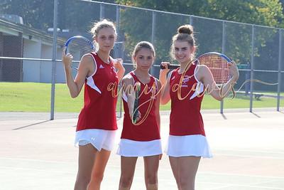 bville tennis varsity 17-18