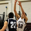 Abington's Vince Tranquillo takes a sho over Council Rock North's Charlie Anastasi.<br /> Bob Raines 1/25/11