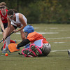 FH_UD CBE_5285  Samantha Boyd battles Central Bucks East goalie, Emily Guthier, for the ball.     Bob Raines 10.24.11
