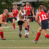 FH_UD CBE_5176  Upper Dublin's Emily Hitchings races to beat Central Bucks East's Katt Miller and Erin Wood to the ball.     Bob Raines  10.24.11