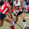 FH_UD CBE_5247  Upper Dublin's Emily Hitchings looks to get by Central Bucks East's Casey Apt.     Bob Raines 10.24.11