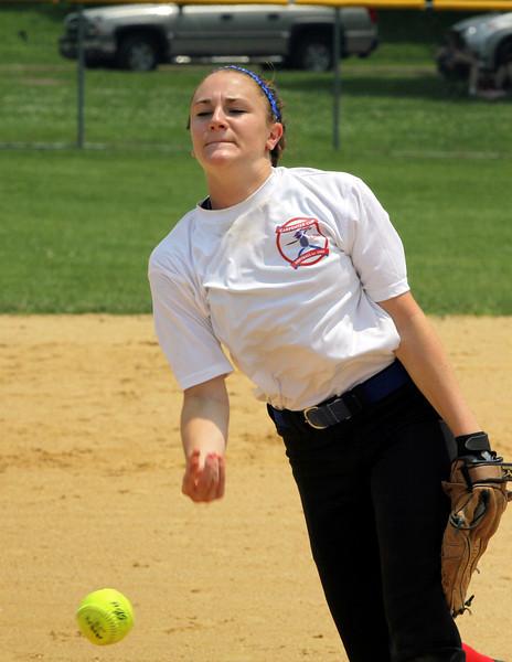 North Penn's Vicki Tumasz pitches for SOL/BAL.