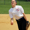 North Penn's Vicki Tumasz pitches for SOL/BAL.