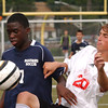 Cheltenham's Daniel Marinho and Upper Dublin's Jared D'Andrea fight for the ball.<br /> Bob Raines 9/7/11