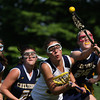 Cheltenham's Rachel Boles and Wissahickon's Zoe Kale fight for the ball.<br /> Bob Raines 5/7/10