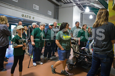 South Florida Bull fans enter the NCAA selection party at the Sun Dome on March 13, 2017 in Tampa, Florida.