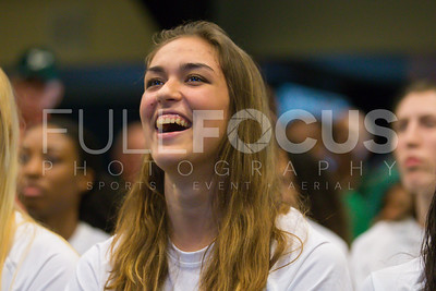 South Florida Bulls guard/forward Ariadna Pujol (11) reacts during the NCAA selection party at the Sun Dome on March 13, 2017 in Tampa, Florida.