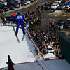 KRISTOPHER RADDER - BRATTLEBORO REFORMER<br /> Logan Sankey takes-off from the inrun during her first jump in the Women's U.S. Cup division at the Harris Hill Ski Jump, in Brattleboro, Vt., on Saturday, Feb. 17, 2018. Sankey finished first with a score of 200.5.
