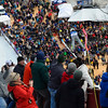 KRISTOPHER RADDER - BRATTLEBORO REFORMER<br /> Thousands of people watch as Canden Wilkinson during his first jump in the Men's U.S. Cup at the Harris Hill Ski Jump, in Brattleboro, Vt., on Saturday, Feb. 17, 2018.